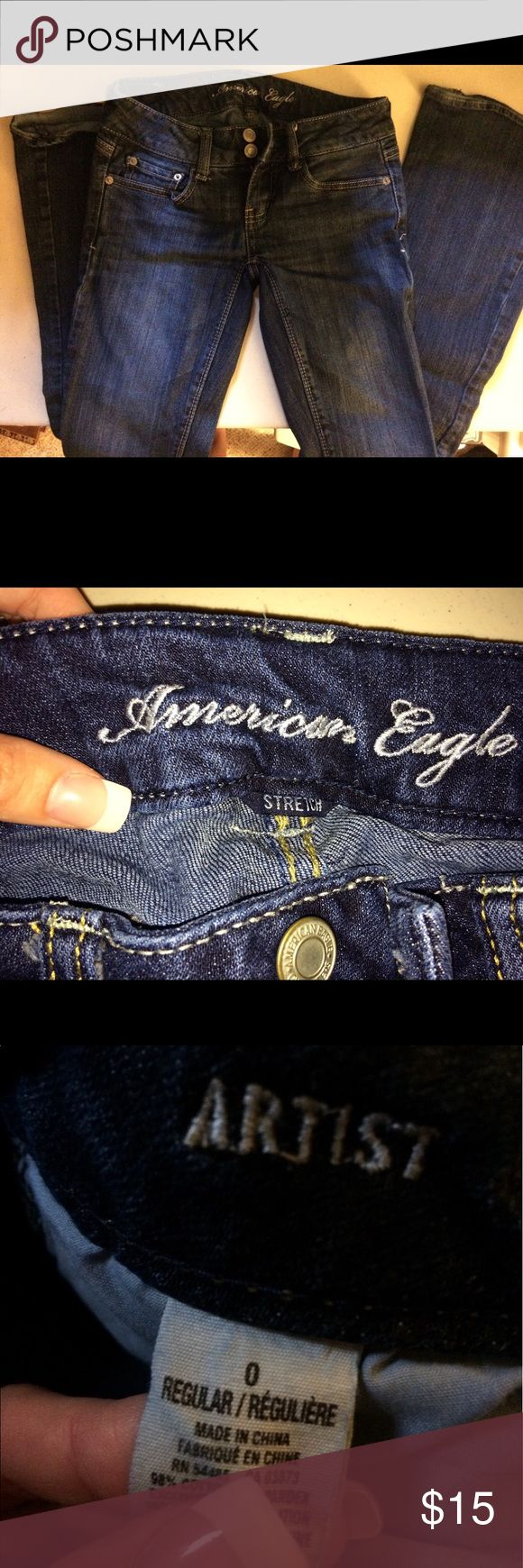 American eagle jeans Size 0 regular/stretch American eagle jeans American Eagle Outfitters Jeans