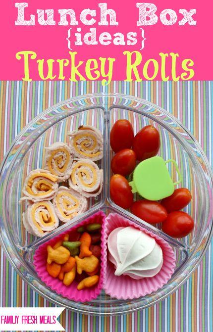 Lunch Box Ideas: Turkey Rolls
