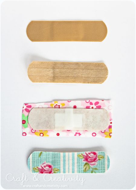 Fabric band-aids - might also work with washi tape.
