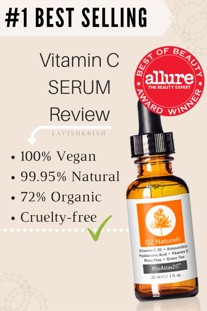 #1 Best Selling Vitamin C Serum by Oz Naturals Review -