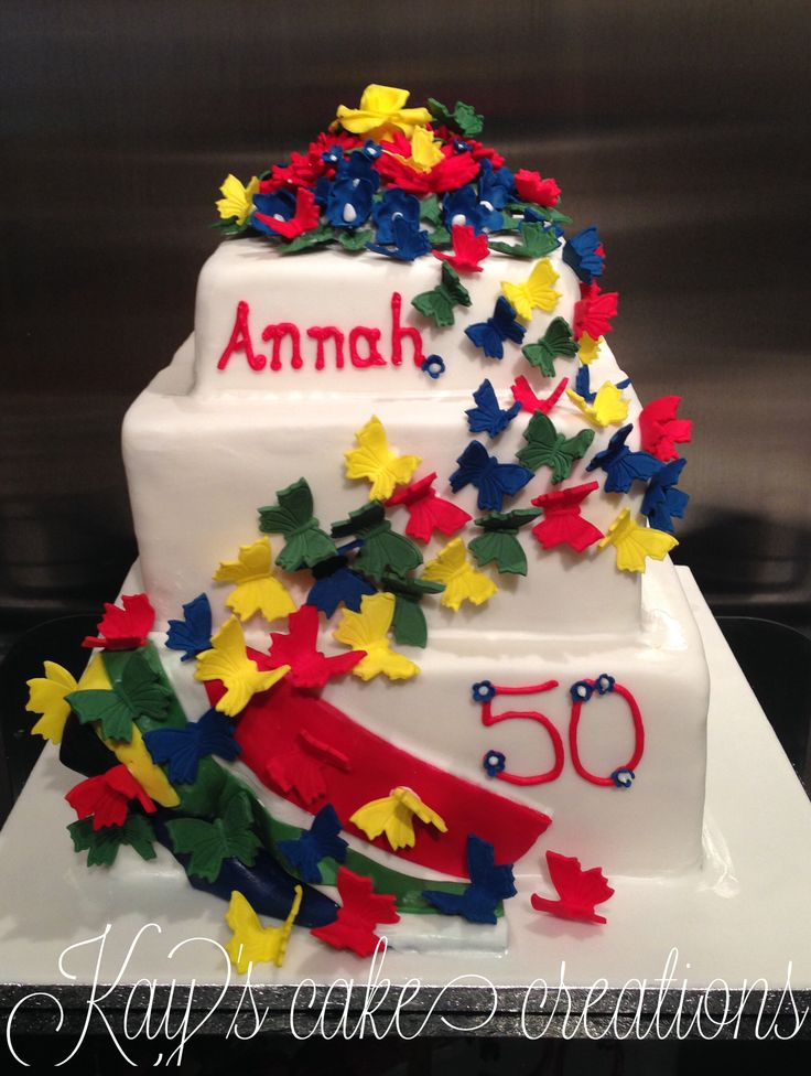 My last cake for an entire month  roll on April when I can resume service. This is a vanilla sponge with vanilla buttercream and hand made flowers butterflies and the South African flag all in corresponding colours. Happy birthday Annah