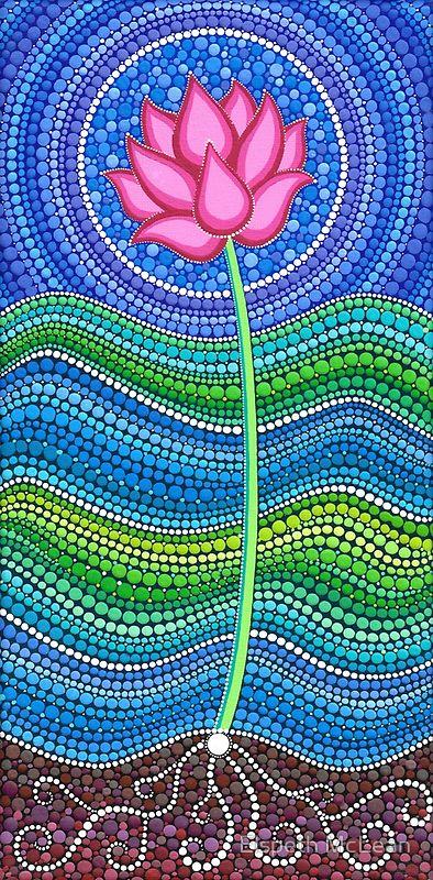 Flor con tecnica cog rayas