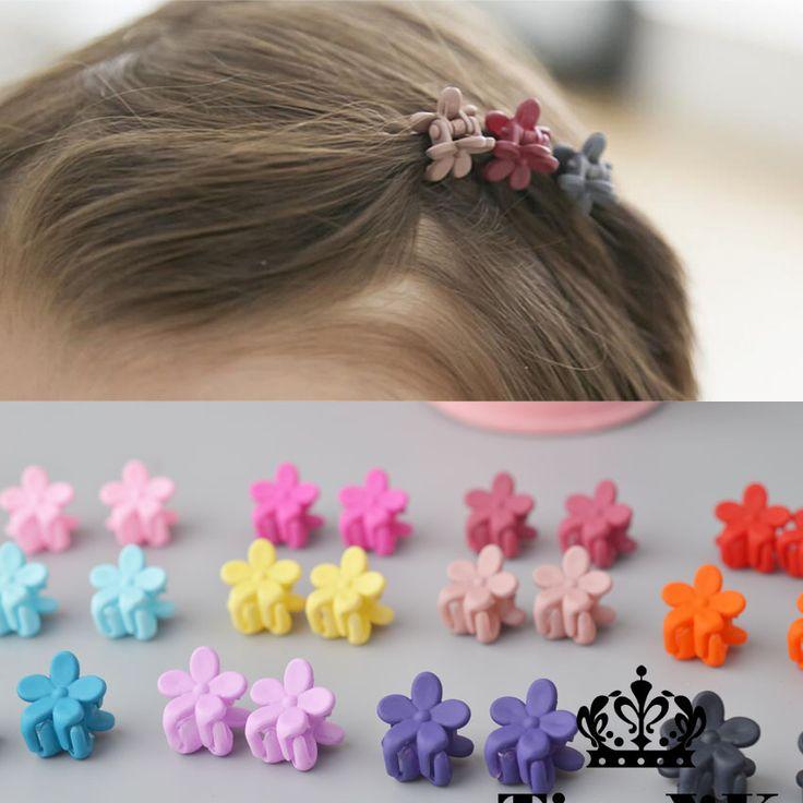 10 stks Nieuwe Mode Baby Meisjes Kleine Haar Klauw Leuke Candy Kleur bloem Haar Jaw Clip Kinderen Haarspeld Haaraccessoires groothandel