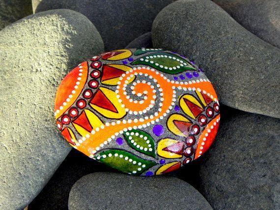 Painted Rock / Moroccan Sunrise / Sandi Pike por LoveFromCapeCod