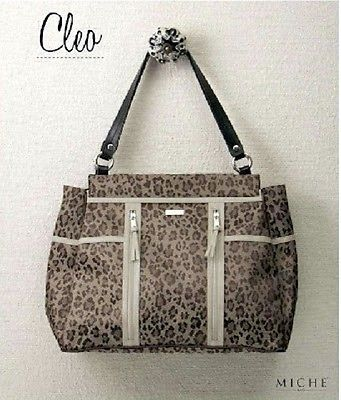 MICHE-Prima-purse-shell-CLEO-fabric-leopard-print-tan-brown