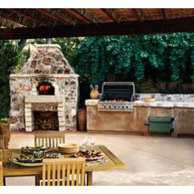 Great BBQ Pit Set Up For The Backyard, Perfect Under The