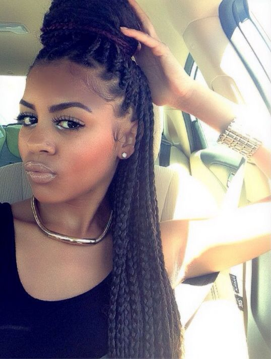 Outstanding 1000 Ideas About Big Box Braids Hairstyles On Pinterest Box Short Hairstyles For Black Women Fulllsitofus