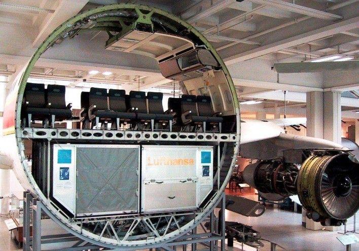 Gambar foto model potongan pesawat komersial