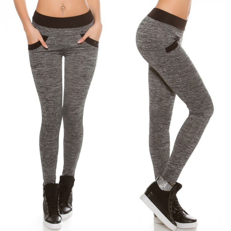 Fekete szürke leggings