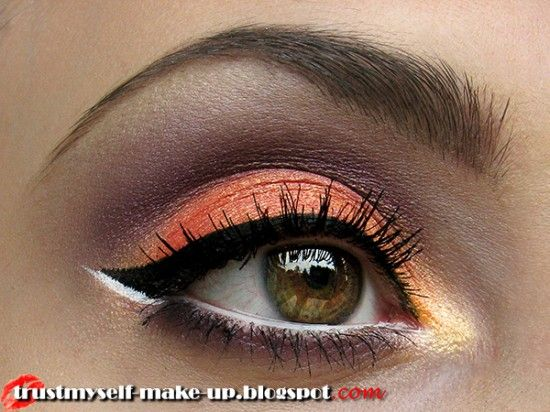 36 best images about orange yellow makeup on pinterest. Black Bedroom Furniture Sets. Home Design Ideas