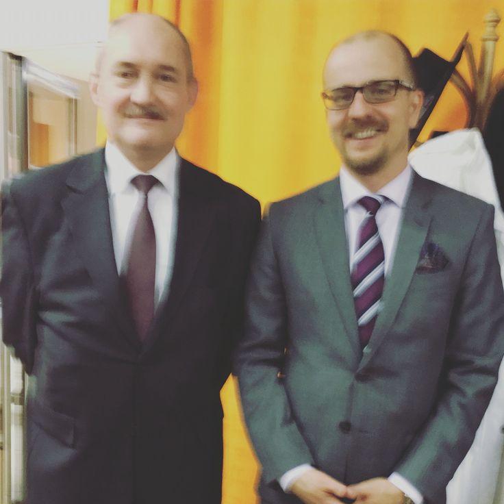 Na konferenci kolínské sociální demokracie s vynikajícím historikem Václavem Drškou...