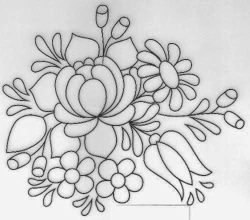 Dibujos y Plantillas para imprimir: dibujos de flores para bordar