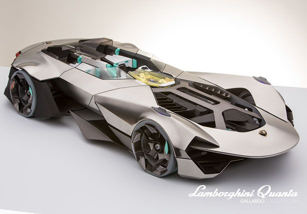 Future Of The Car: Lamborghini Quanta Is A Concept Car Study For The Year Of