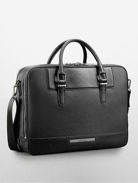 Calvin Klein Peter Faux Leather Computer Commuter Briefcase on shopstyle.com