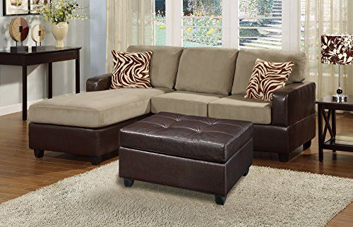 Bobkona Manhanttan Reversible Microfiber 3-Piece Sectional Sofa with Faux Leather Ottoman in Pebble Color  http://www.furnituressale.com/bobkona-manhanttan-reversible-microfiber-3-piece-sectional-sofa-with-faux-leather-ottoman-in-pebble-color-2/