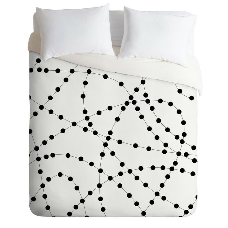 DOTTED BLACK LINE Duvet Cover By Holli Zollinger $ 189.00