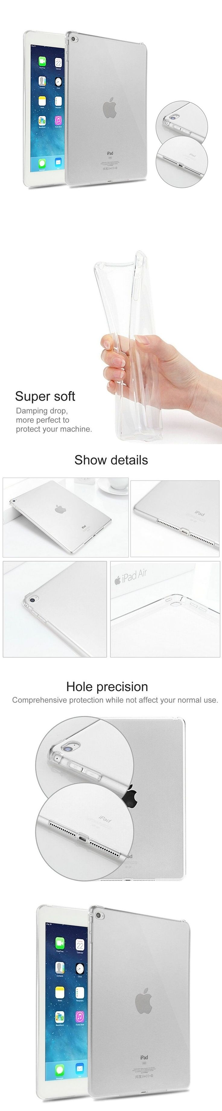 For iPad Air 2 Case TPU Clear Funda Cover for Apple iPad Mini 1 2 3 4 for iPad 2 3 4 5 6 for ipad 9.7 inch 10.5inch Tablet