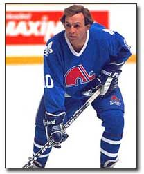 Guy Lafleur, in the twilight of his career, playing for the Quebec Nordiques