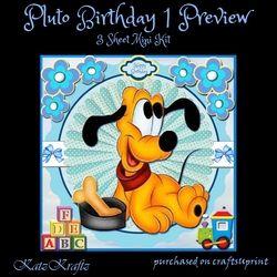 Pluto Birthday 1 Mini Kit on Craftsuprint - View Now!