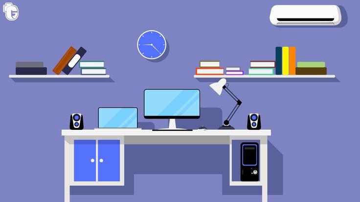 Designer's office flat illustration  https://www.behance.net/teguhhardiyanto  #flatdesign #graphicdesign #office #deskterior #Vector  #illustration #vectorart