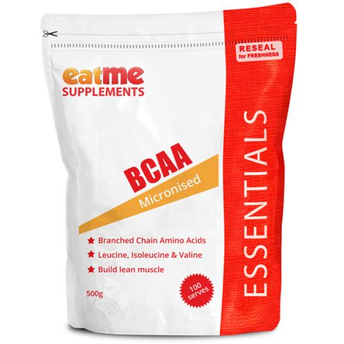 Eat Me BCAA Powder 500g from Superior Supplements Like protein powder, Branched Chain Amino Acids (BCAAs) are a muscle building essential What's really special about these three aminos is how your body handles them. When you ingest amino acids as individual aminos or as protein, they travel to your liver, which immediately breaks them down and uses them for fuel if the body needs them for energy rather than for rebuilding muscle and other tissues.