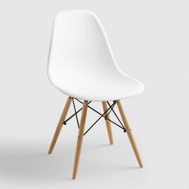 White Molded Evie Chairs, Set of 2 – v1