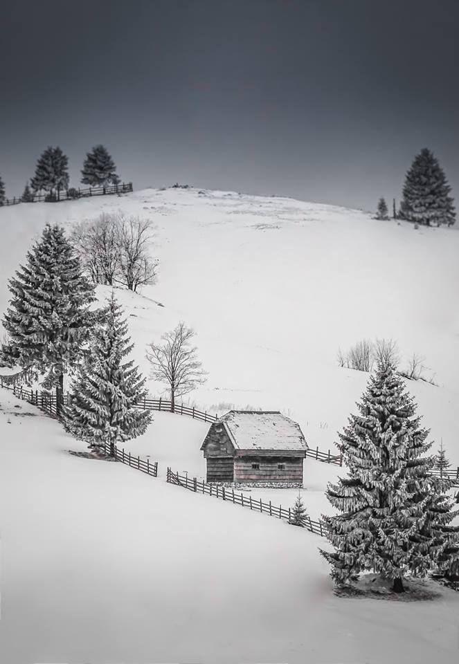 Seara în România Foto: Nicoleta Tatiana Grădinaru #romaniaazi #romania #iarna #zapada #munte
