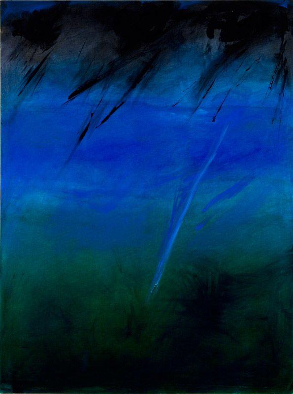 Rita Letendre - Weeping Stars,2007.Oil on canvas,122 x 91,5cm.