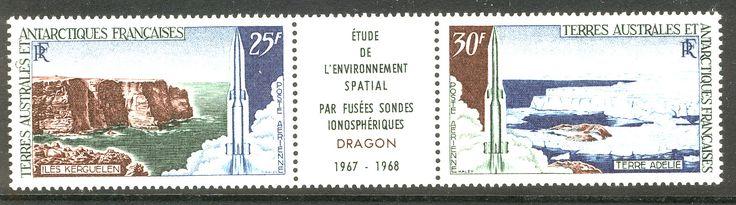 Terres Australes et Antarctiques Francaises Dragon 1967-19689
