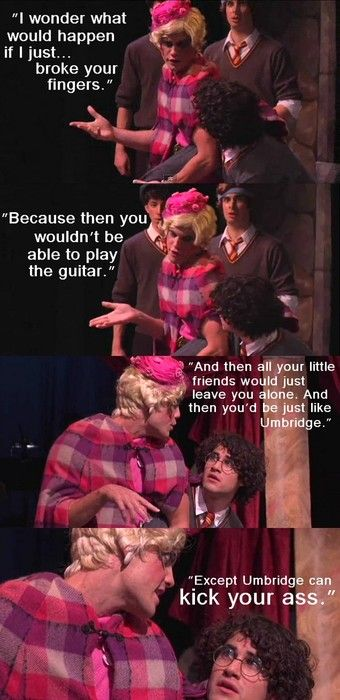 Just AVPM Umbridge being AVPM Umbridge. Also, I feel as if Darren was once again trying to stifle his laughter.