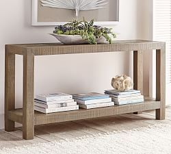 Griffin Reclaimed Wood & Wrought Iron Console Table – Console Tables – Pottery Barn