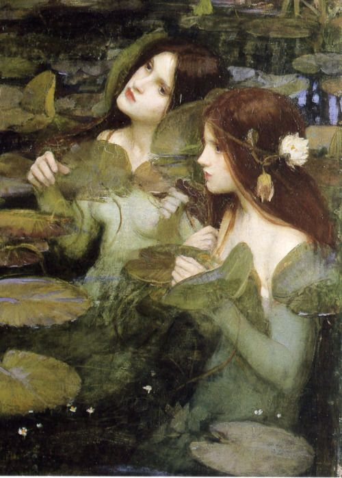 fluxstation:    Waterhouse liked the ladies. Hylas and the Nymphs (detail). John William Waterhouse. 1896. Oil on canvas. Manchester Art Gallery, Manchester.