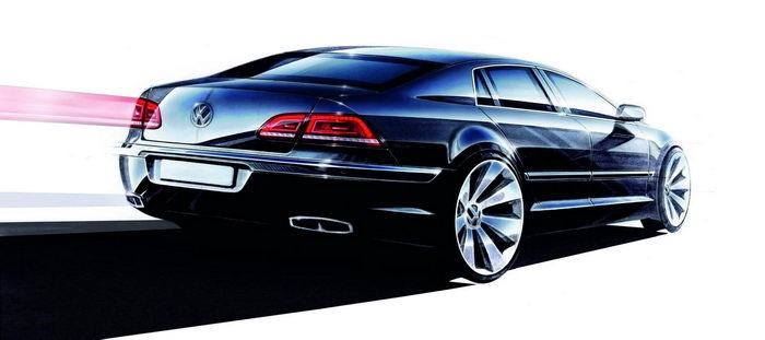 Artist rendering of a VW Phaeton