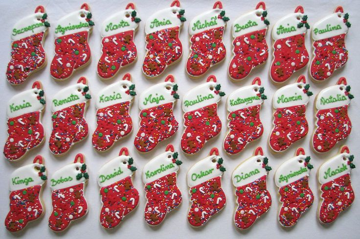 christmas stocking with names cookies