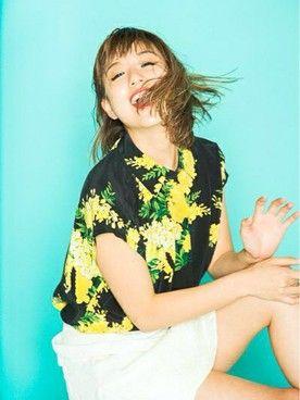 伊藤千晃(AAA)│EQUIPMENTのシャツ・ブラウスコーディネート