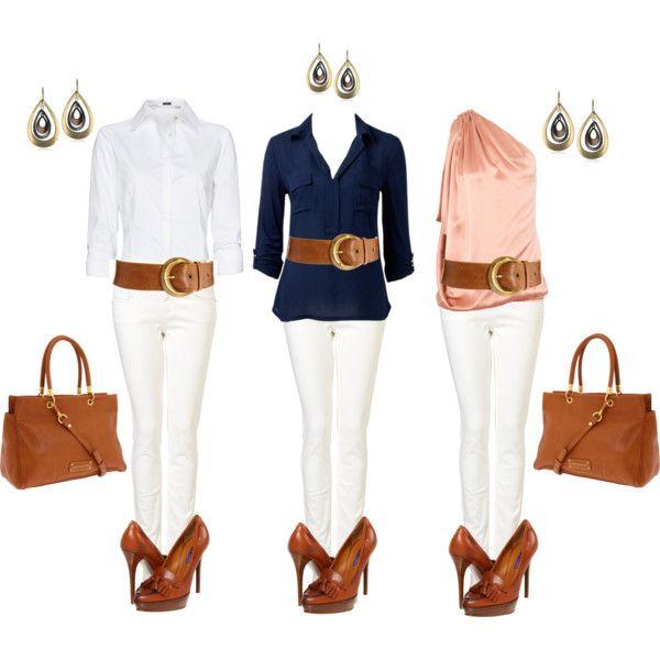 White jeans: A Mini-Saia Jeans, Fashion, Colors Jeans, Fabulous Style, Hbhamburg, Trio Infernal, White Jeans, Belts, My Style