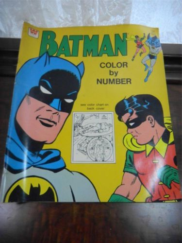 Vintage Whitman 1966 Batman Color By Number Book