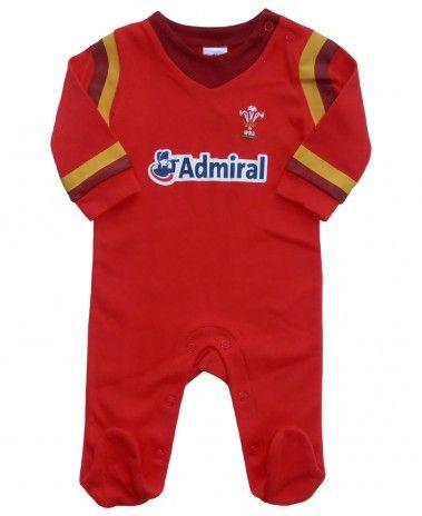 Wales WRU Rugby Baby Sleepsuit - 2015/16 Season