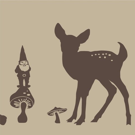 Large Woodland Animal Silhouette Scene Kit With By