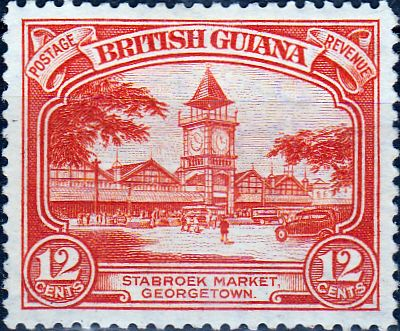 British Guiana 1934 King George V SG 293a Stabroek Market Fine Mint SG 293a Scott 215a Other BWI Stamps Here