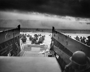 "June 6, 1944, 160,000 Allied troops landed along a 50-mile stretch of heavily-fortified French coastline to fight Nazi Germany on the beaches of Normandy, France. General Dwight D. Eisenhower called the operation a crusade in which ""we will accept nothing less than full victory."""