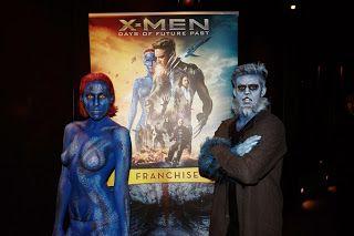 Bodypainting News Media: X-Men Bodypainting Promotion DVD Launch