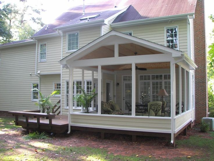 Screen porch knee wall screened porch screened screen for Screen room designs