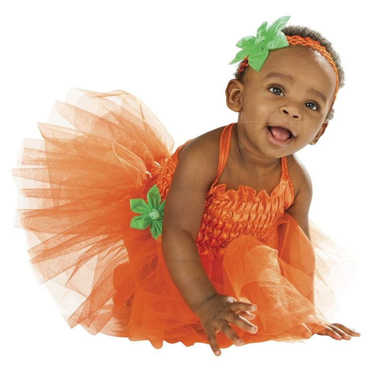 Have the cutest pumpkin on the block this #Halloween with an adorable orange pumpkin #costume.