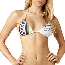 Fox Racing Creo Triangle Bikini Top Light Grey