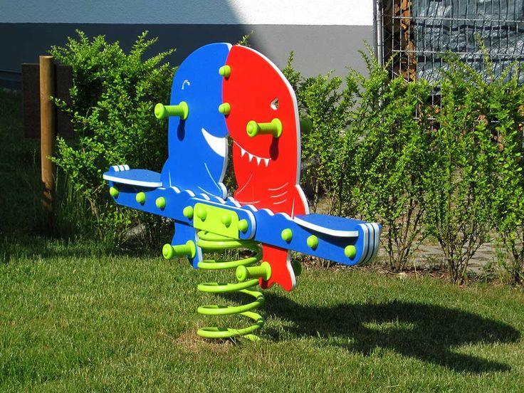 #kinder #wippe #garten Wippe Hai für zwei Kinder geeignet auch  #Spielplatz #Federwippe nach EN1176 für Spielplatz geeignet