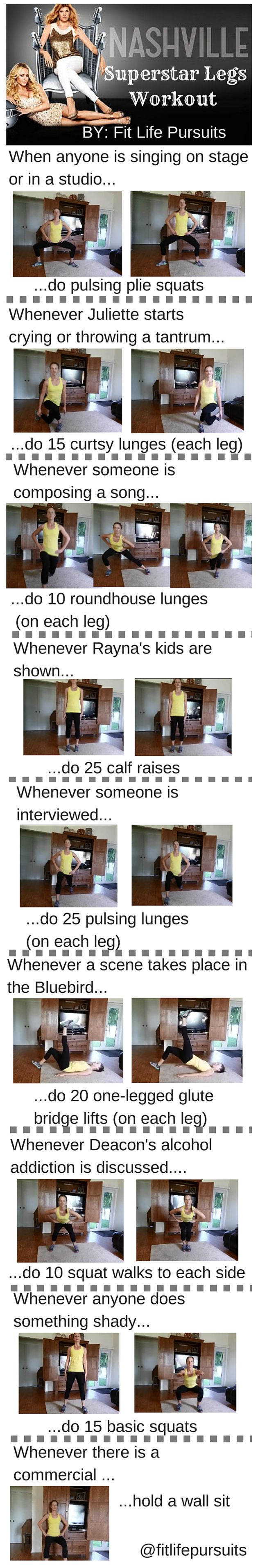 Get Superstar Legs with This Nashville TV Show Workout fitlifepursuits.com