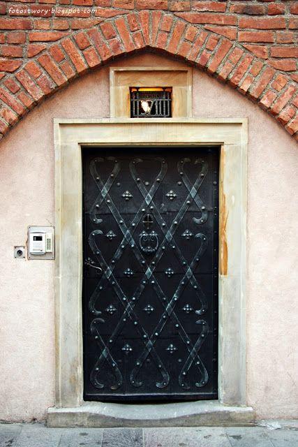 door, drzwi, Warsaw, Poland