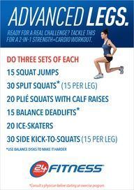 Burn calories and build serious lower-body strength with this advanced leg workout! Find more workout ideas here community.24hourf...  #legs #workout #24hourfitness #fit-test