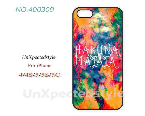Phone Cases,  iPhone 5 Case,  iPhone 5S/5C Case, iPhone 4/4S Case, disney hakuna matata lion king, Case for iPhone-400309